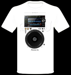 Camisetas para DJ Modelo Pioneer CDJ 2000 NXS2 - Branca