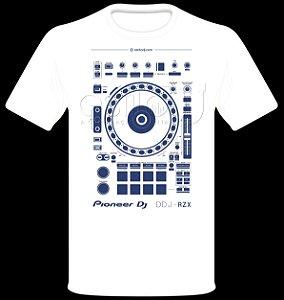 Camisetas para DJ Modelo Pioneer DDJ-RZX - Branca