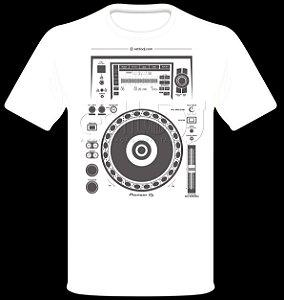 Camisetas para DJ Modelo Pioneer XDJ-1000MK2 - Branca