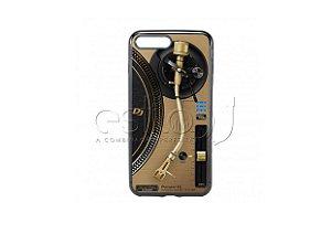 Capa de celular para DJ modelo iPhone 7 Plus - Toca Discos Pioneer Dourado PLX-1000n