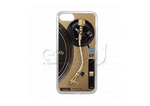 Capa de celular para DJ modelo iPhone 7 - Toca Discos Pioneer Dourado PLX-1000n