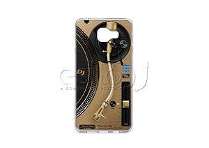 Capa de celular para DJ modelo Samsung Galaxy J7 Prime - Toca Discos Pioneer Dourado PLX-1000n