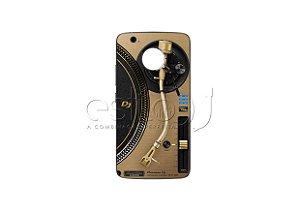Capa de celular para DJ modelo Moto G5 - Toca Discos Pioneer Dourado PLX-1000n