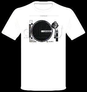 Camisetas para DJ Modelo Reloop Toca Discos RP-8000s - Branca