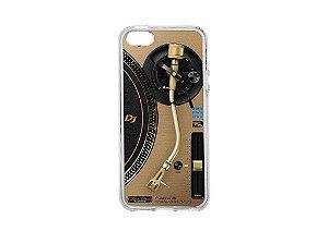 Capa de celular para DJ modelo iPhone 5/5s - Toca Discos Pioneer Dourado PLX-1000n