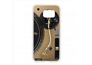 Capa de celular para DJ modelo Samsung Galaxy S6 - Toca Discos Pioneer Dourado PLX-1000n