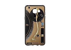 Capa de celular para DJ modelo Samsung Galaxy A5 2016 - Toca Discos Pioneer Dourado PLX-1000n