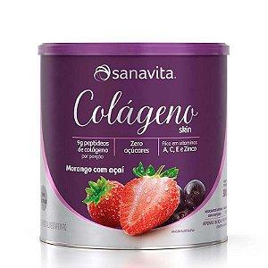 Colágeno Skin Sanavita - Sabor Morango e Açaí (300g)