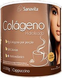 Colágeno Hidrolisado Sanavita - Sabor Cappucino (300g)