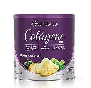 Colágeno Skin Sanavita - Sabor Abacaxi com hortelã (300g)