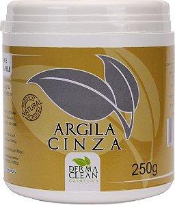 Argila Cinza Em Pó pote 250g para sensação de maciez, suavidade e limpeza da pele