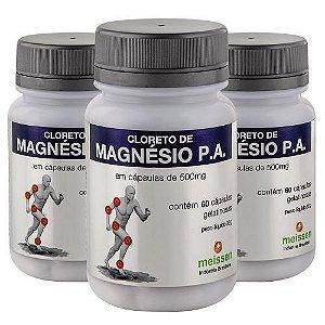 Cloreto de magnésio 60 cápsulas de 500 miligramas
