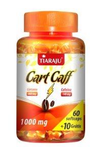 Cart Caff (Óleo de Cártamo + Cafeína) 1000mg - 60 cápsulas + 10 grátis