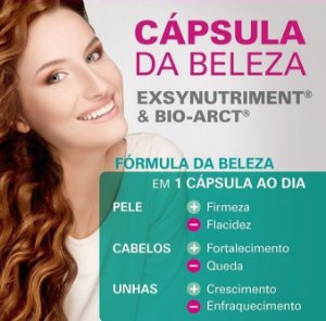 Bio Arct 150 mg + Exsynutriment 100 mg - Cápsulas da Beleza para Pele, Cabelos e Unhas 30 cápsulas