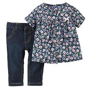 Carter's - Kit 2 peças blusa com calça Jeans