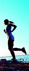 Capa Fitness Modelo Correr na Praia