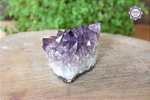 Drusa de Ametista 327g | Cristal de Proteção, Transmutação e Comunicação Divina