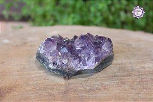Drusa de Ametista 187g | Cristal de Proteção, Transmutação e Comunicação Divina