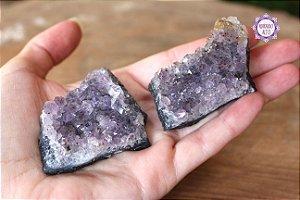 Drusa de Ametista Pequena (40g cada) | Cristal de Proteção, Transmutação e Comunicação Divina