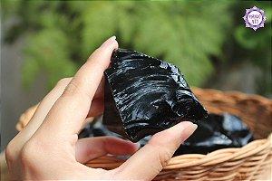 Obsidiana Negra (de 75g a 95g a unidade) | Pedra para Proteção Psíquica e Energética