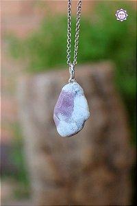 Pingente de Turmalina Rosa (Prata 950)   Pedra do Amor e Cura Emocional