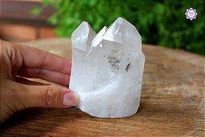 Ponta de Quartzo Bruta 8,5 cm 275g | Cristal de Limpeza, Purificação e Cura