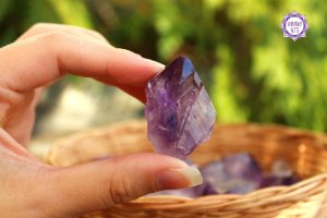 Ametista Ponta Bruta Pequena (de 20g a 30g) | Para Proteção e Transmutação de Energias