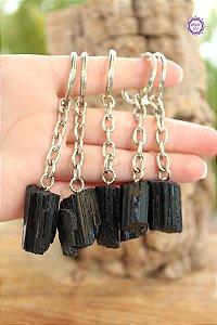 Chaveiro de Turmalina Negra (de 14g a 23g) | Pedra de Proteção e Purificação