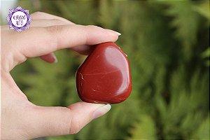 Jaspe Vermelho Rolado 47g | Pedra da Memória e Energia Kundalini!