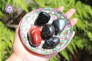 Kit Aterramento Pedras Roladas (Aprox. 172g) | Harmonize os seus Chacras Inferiores!