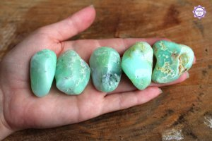 Crisoprásio Rolado (aprox. 23g) | Pedra do Amor Divino e Pensamento Positivo