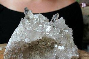 Drusa de Quartzo Grande 2.6kg | Cristal de Limpeza, Purificação e Cura
