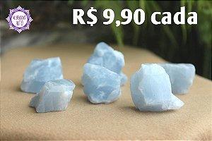 Calcita Azul Bruta (aprox. 42g) | Pedra da Inspiração Criativa e Habilidades Mediúnicas!