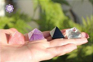 Mini Kit Essencial Pirâmides de Cristal | Para Canalização das Energias Universais!