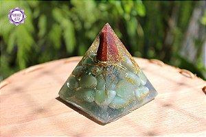 Orgonite Pirâmide Vitalidade | Força, Cura e Purificação das Energias do Ambiente!