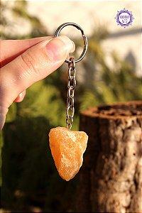 Chaveiro de Calcita Amarela 22g | Cristal da Inteligência Emocional