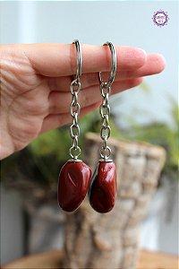Chaveiro de Jaspe Vermelho | Pedra da Memória e Energia Kundalini