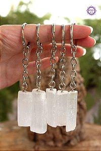 Chaveiro de Selenita | Pedra de Ativação Espiritual