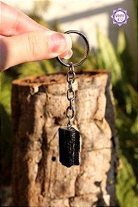 Chaveiro de Turmalina Negra (aprox. 12g) | Pedra de Proteção e Purificação