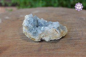 Drusa de Celestita 157g | Pedra da Comunicação Angelical e Dimensões Superiores