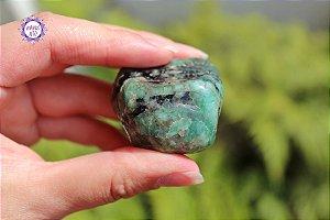 Esmeralda Rolada 65g | Pedra do Amor Divino, Cura e Prosperidade!