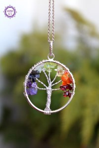 Pingente Árvore da Felicidade 6g | A Energia dos Cristais Sempre com Você