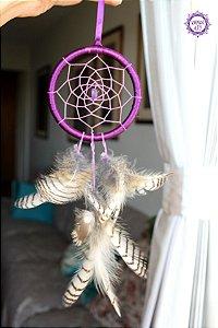 Filtro dos Sonhos com Ametista para Proteção e Transmutação | Aro 10