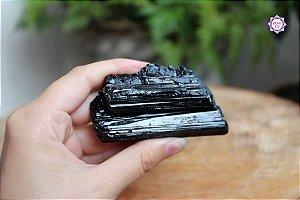 Turmalina Negra Bruta 155g | Pedra para Proteção e Purificação