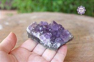 Drusa de Ametista 89g   Cristal de Proteção, Transmutação e Comunicação Divina