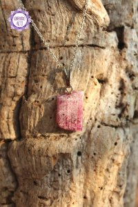 Pingente Canudo de Turmalina Rosa (3g) | Pedra do Amor e Cura Emocional!