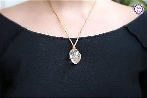 Castroado de Cristal com Cordão Claro Ajustável | Cristal de Limpeza, Purificação e Cura