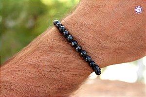 Pulseira Unissex de Cianita Azul cristal de Arcanjo Miguel para Proteção e Intuição