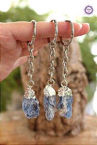 Chaveiro Cianita Azul 16g | Telepatia, Recordação de Vidas Passadas e Pedra de Arcanjo Miguel