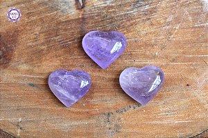 Coração de Ametista Natural 15g | Cristal de Proteção e Transmutação